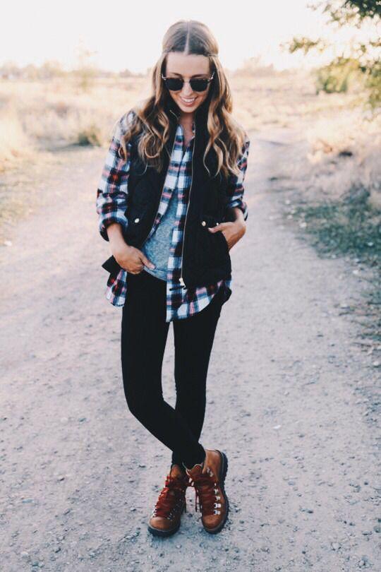 flannel + vest                                                                                                                                                     More