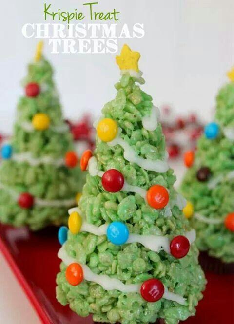 Rice krispie Christmas trees!