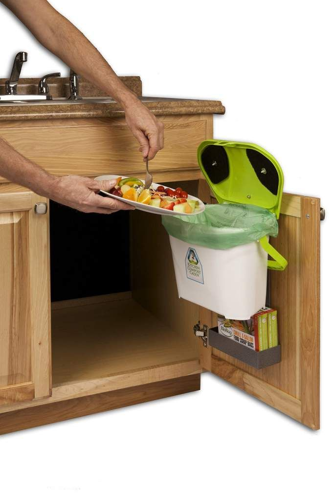 Kitchen Compost Caddy Under Sink Mounted Compost System With Compost Bag  Storage , Kitchen Compost Bin