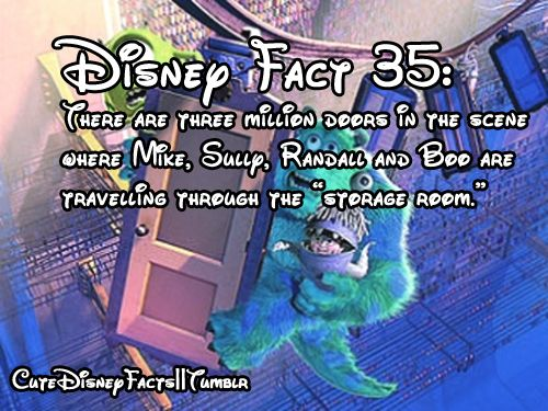 Cute Disney Facts. Whoa... that's a lot of doors, not to mention a lot of work...