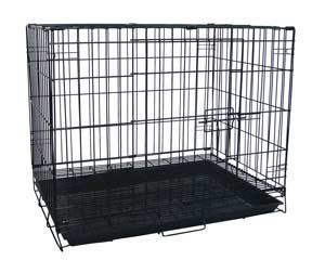 Large Black Wire Dog Kennel / Pet Cage 30'x21'x24' * Find out more details by clicking the image : Dog crates