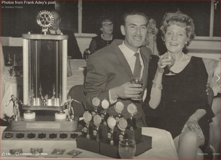 Dad Frank & Mum Rene at the first Little league dinner...50 years ago