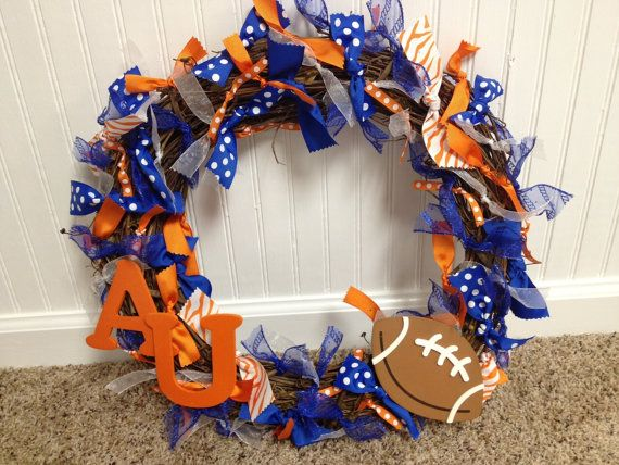 Auburn Ribbon Wreath by AllieGatorGifts on Etsy, $38.00