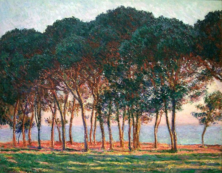 Under the Pine Trees at the End of the Day: Claude Monet