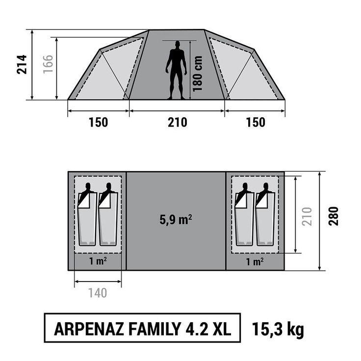 Kempingezés Kempingezés - Arpenaz Family 4.2 XL QUECHUA - Hegy - QUECHUA
