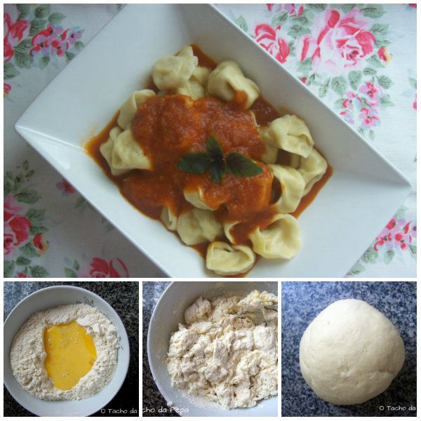 Tortellini caseiro de abóbora e queijo coalho