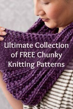 If you like chunky knits, then you'll LOVE these 5 FREE chunky knitting patterns in this brand NEW eBook! #chunkyknits #knitting