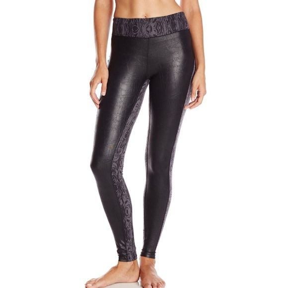 Soybu Athletic Legging- NWT The perfect blend of fashion and function, our Hayden Legging features our signature Stretch RE-FLEX and subtly embossed Faux Leather. You're sure to make a trendy statement whether you wear them for your workout or pair with your favorite boots.Faux Leather Front: 92% Polyester, 8% Spandex, Back Stretch Reflex: 44% Recycled Polyester, 44% Virgin Polyester, 12% Spandex, UPF 50 Protection, Wrinkle Resistant, Lightweight. Soybu Pants Leggings