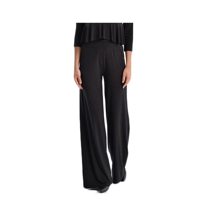 VENER Γυναικεια μαύρη ελαστική παντελόνα, cool jersey υφασμα