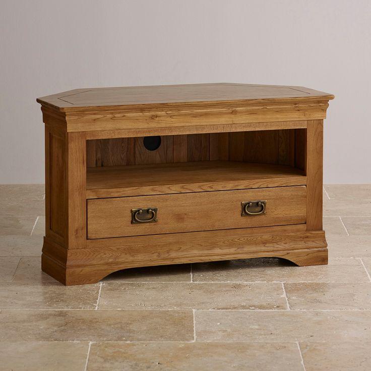 Dark Oak Corner Tv Cabinet