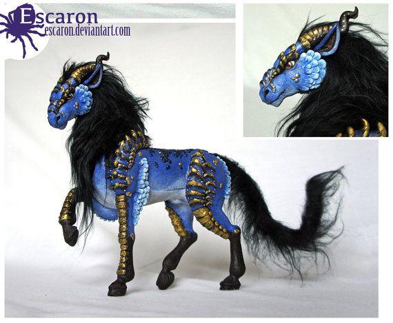 Dragon-Horse (Skuggdrakhe) sculpture