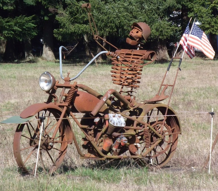 MOTORCYLE YARD ART: a collection of ideas to try about ...