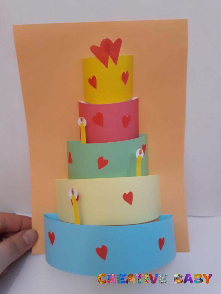 Сделать открытку торт своими руками на день рождения
