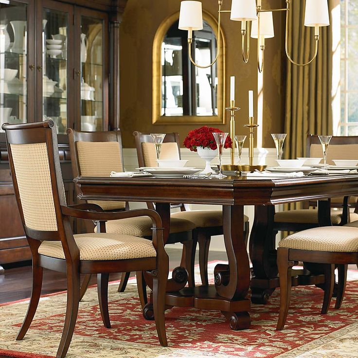 High Quality Louis Philippe Trestle Dining Table