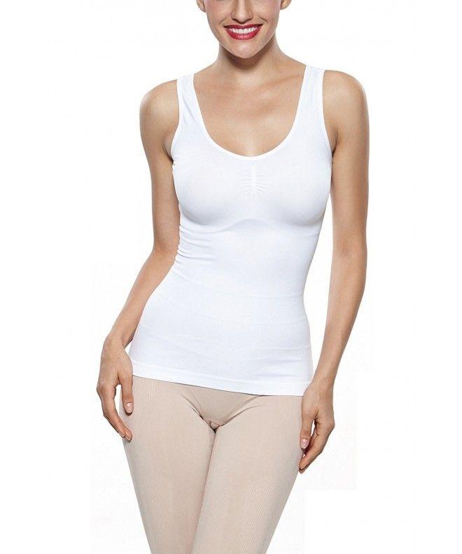 f390e6dce6b Women s Super Soft Camisole Seamless Shapewear Basic Tank Top - White -  C511YPEXMHH