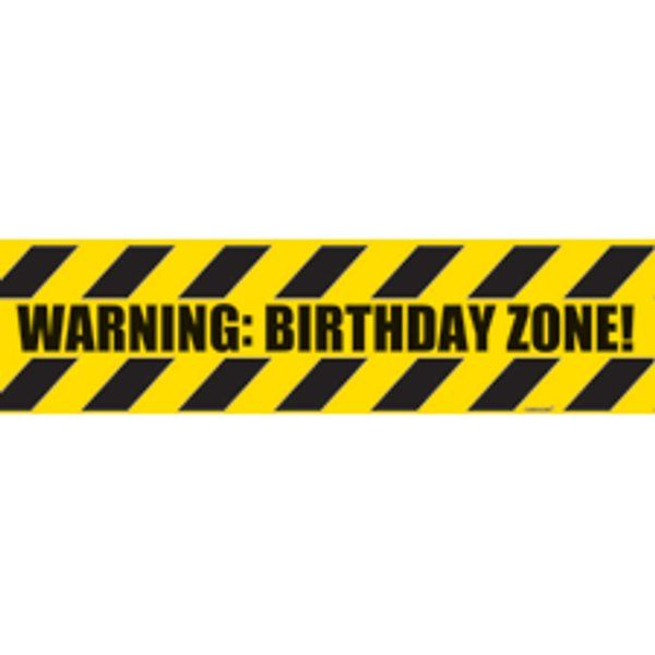 Birthday Zone- Caution Tape