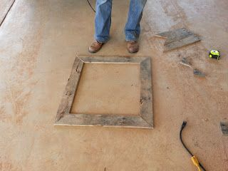 Autumn in Oklahoma: DIY Pallet Picture Frame