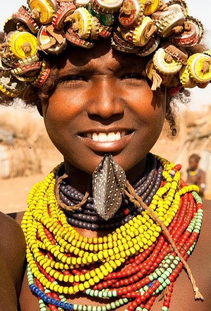 Young girl Dassanech. Omo valley Ethiopia...euhhh!!!