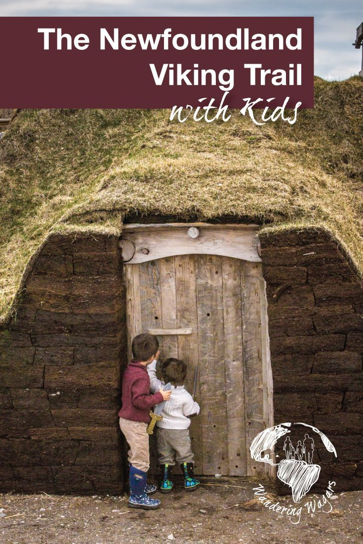 At the northern tip of the Newfoundland Viking Trail in Canada, you can find L'Anse aux Meadows. It is a UNESCO world heritage site and offers a lot of places for children to explore.: