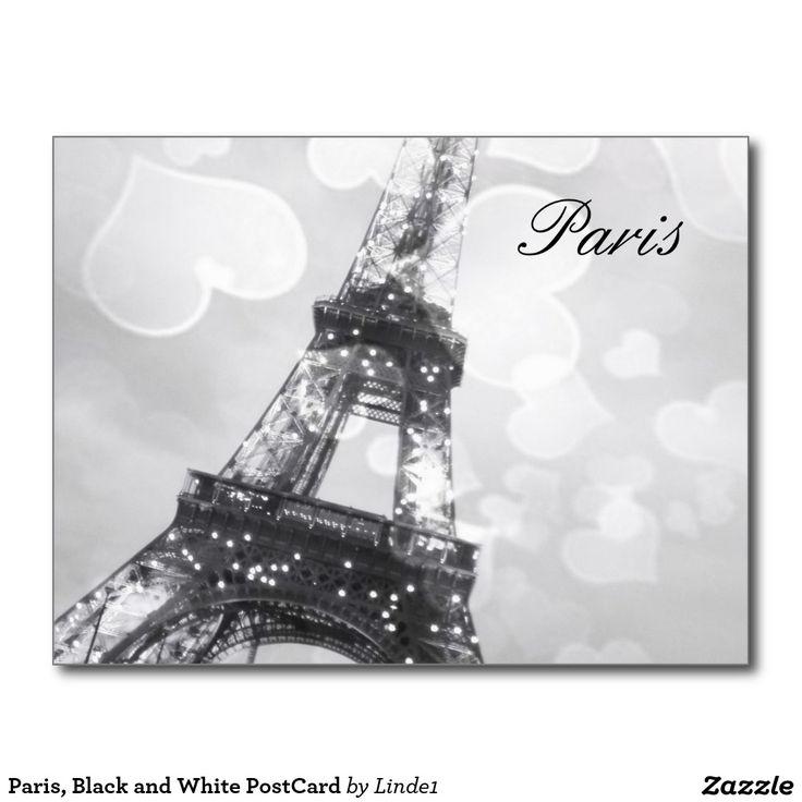 Paris, Black and White PostCard