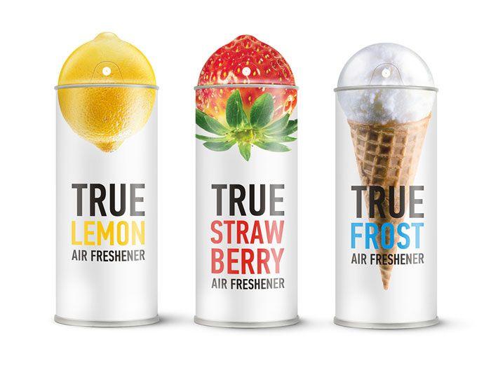 tasty air freshner: Airfreshener, Air Freshener, Clever Packaging, True Air, Packaging Design, Graphics Design, Freshener Packaging, Products, Creative Packaging