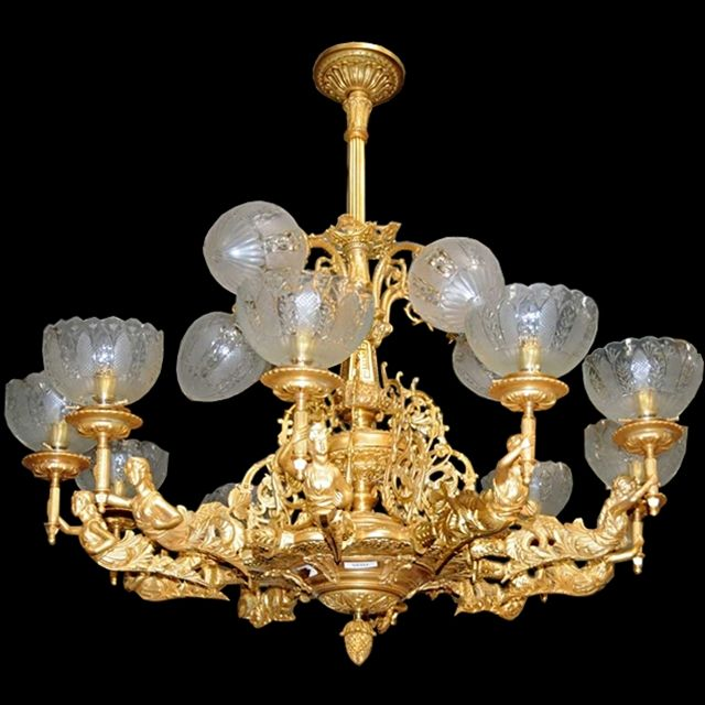 This Great Gas Chandelier Is Done In Dore Gilt Bronze. Exquisitely  Detailed, Photos Do Not Do This Piece Justice. Can Be Used In The Most  Formal Homes And ...