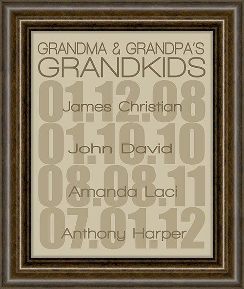 Gifts for Grandparents - an awesome easy to create for yourself gift idea! Add some pictures and they'll love it
