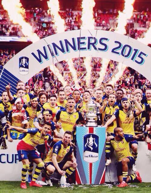 Fa cup winners. The Arsenal