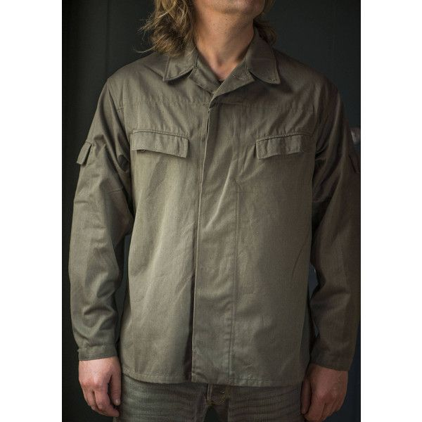 Guard men jacket olive green. Men's light jacket military patch red... ($34) ❤ liked on Polyvore featuring men's fashion, men's clothing, mens clothing, vintage mens clothing, men's apparel and vintage men's fashion