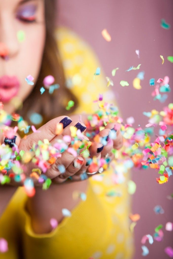 Ever wonder how to get a photo blowing confetti where it comes out perfect? We have you covered with this DIY!
