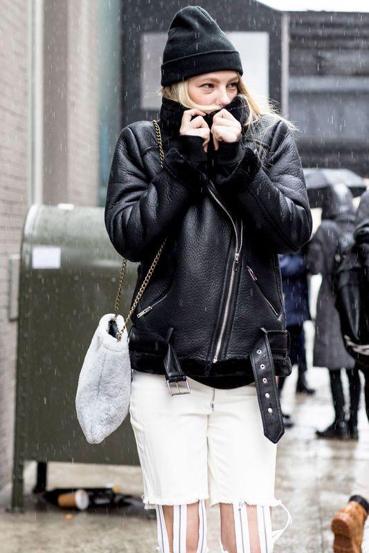Street fashion: modelki off duty na New York Fashion Week AW17