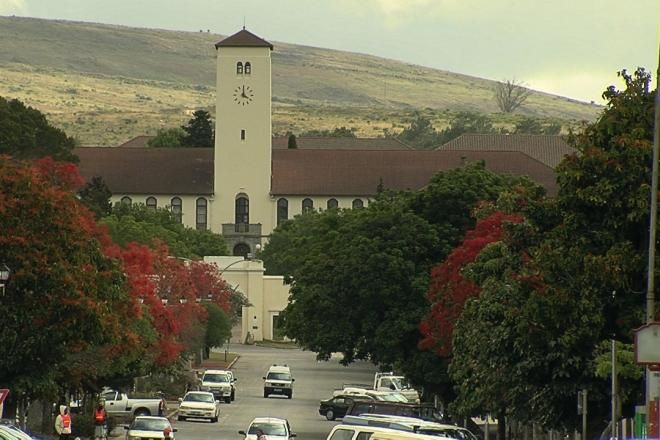 Entrance to Rhodes University from High Street, Grahamstown, South Africa