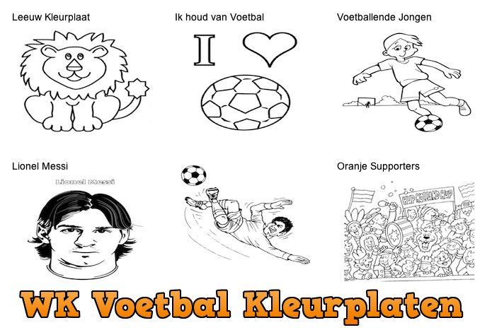 WK Voetbal Kleurplaten