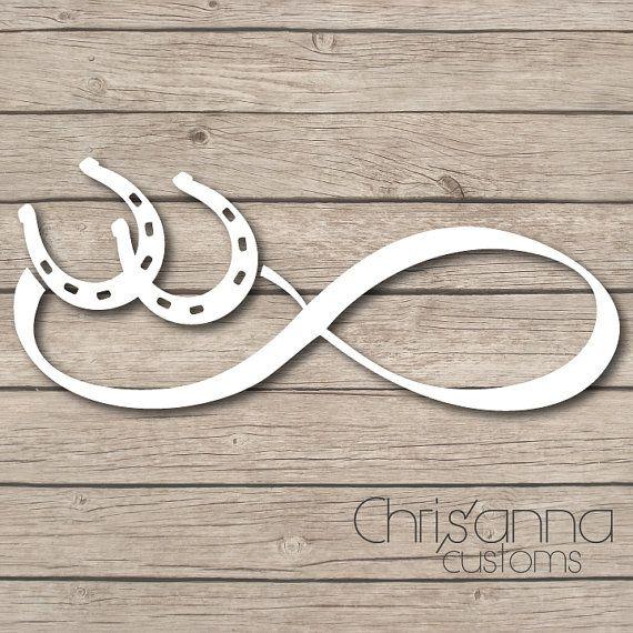 Horse Shoe Infinity Vinyl Decal Sticker by Chrisannacustoms