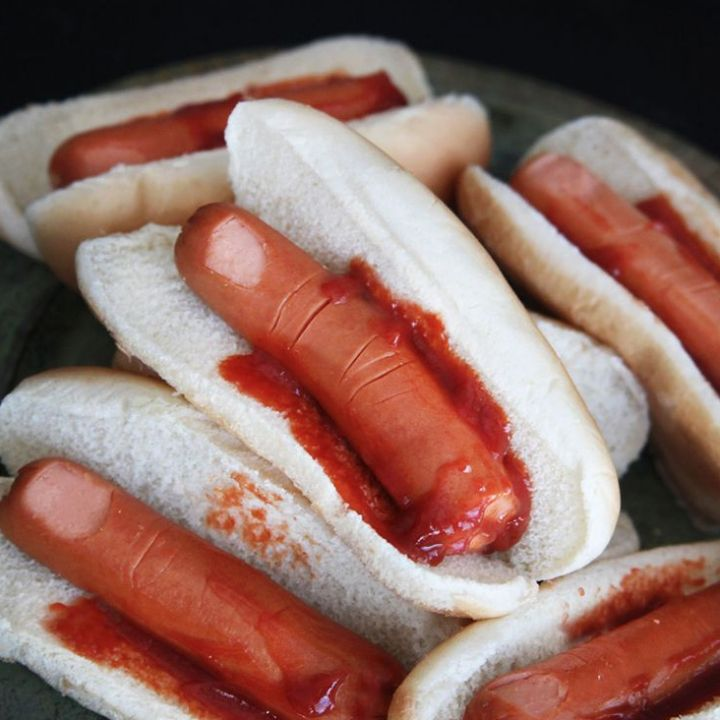 FINGER SANDWICHES!  Halloween feast?