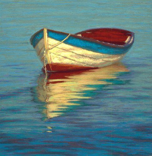 Boat Sales Cape Cod: Pastel Painting: Cape Cod Dory