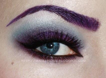 sourcils mauves purple brows - Coloration Sourcils Maison