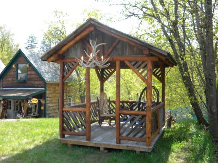 Awesome Rustic Gazebo Plans #1: Rustic Pavilion Plans | Rustic Gazebo | For The Home | Pinterest |  Pavilion, Cabin And Outdoor Ideas