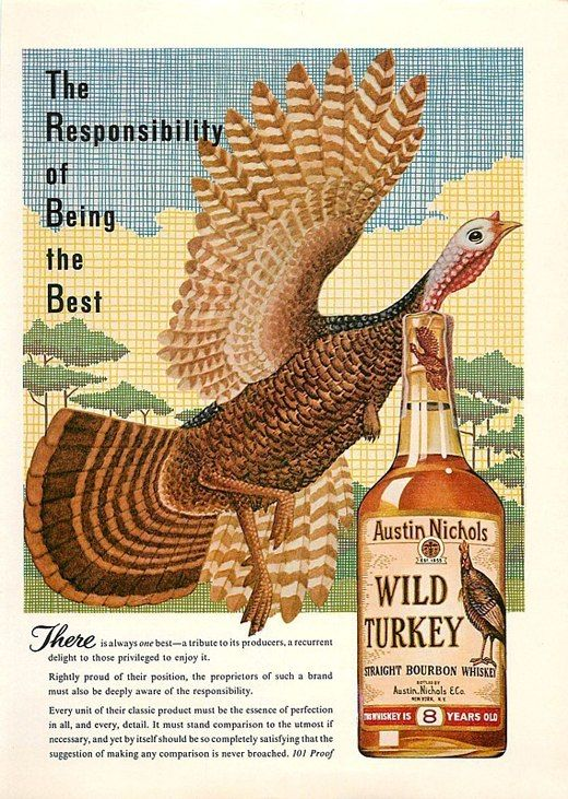 1964 A History of Print Ads from Wild Turkey Bourbon