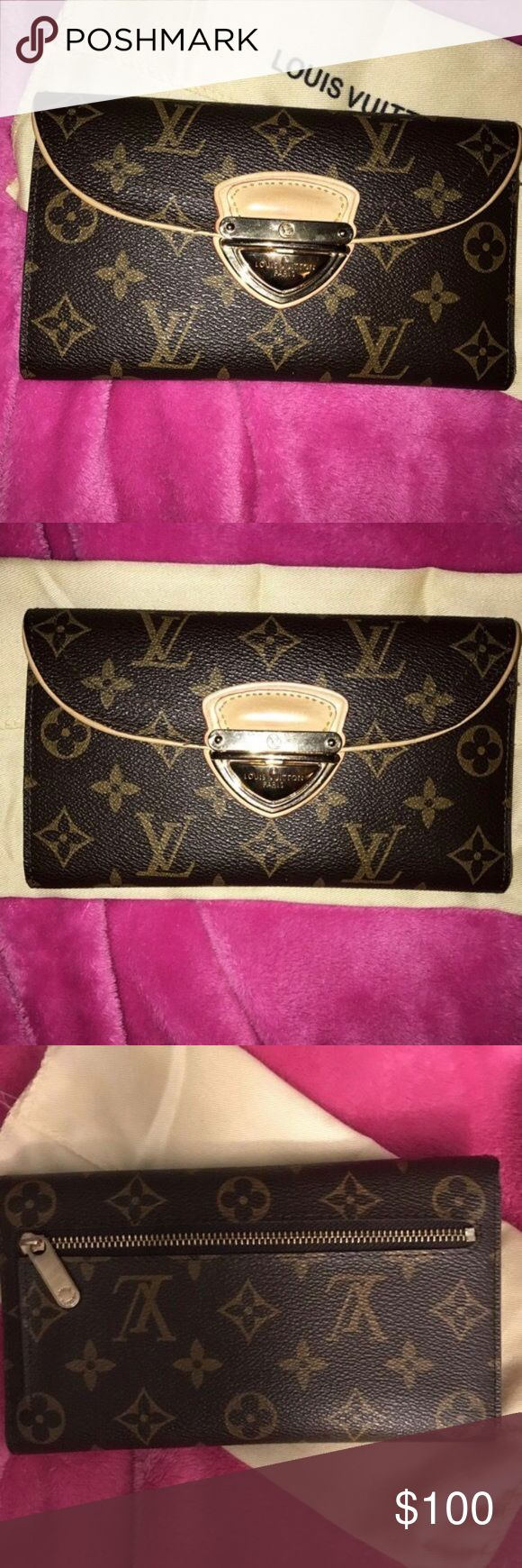 Louis Vuitton Wallet Price reflects authenticity. Used a few times and in excellent condition. Make me an offer! Bags Wallets