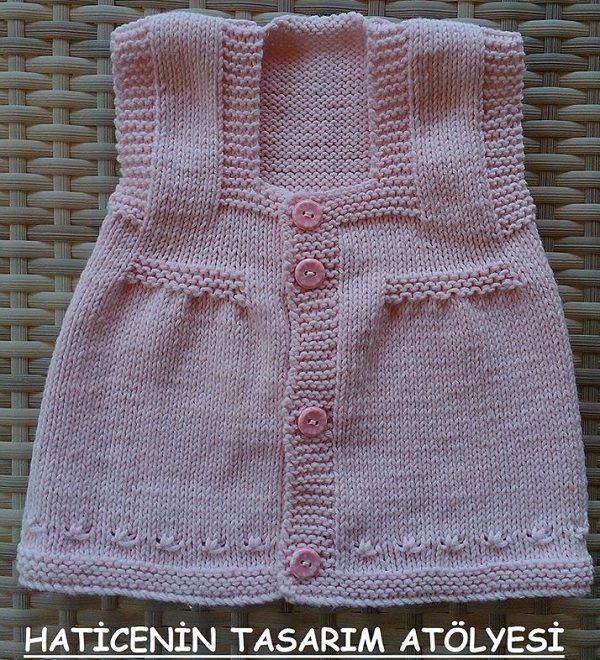 Dikişsiz Yeni Doğan Bebek Yelek Modelleri 3 | Falanca Kadın Portalı