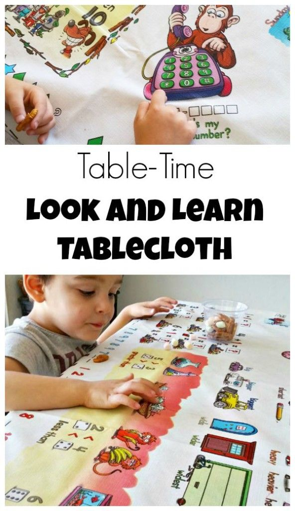 Review of the Table-Time Look and Learn Tablecloth