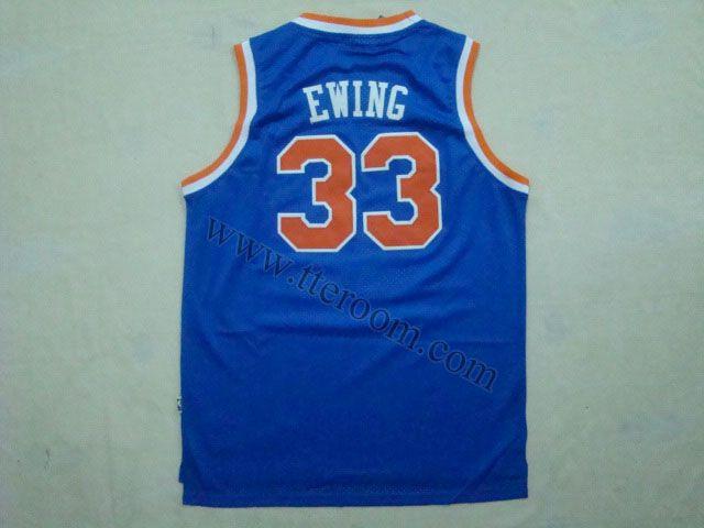 new arrivals 2fe2e b3803 New York Knicks #33 Patrick Ewing Throwback Blue Jersey ...