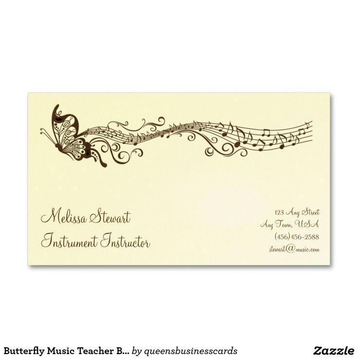 Awesome Music Teacher Business Cards Photos - Business Card Ideas ...
