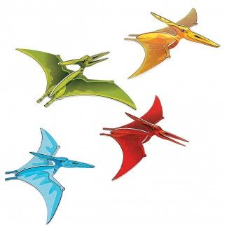 Pterodactyl Hanging Decorations (Pack of 4) - Discount Party Supplies