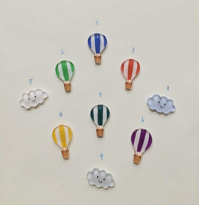 いろいろ気球・ふわふわ雲さんピアス