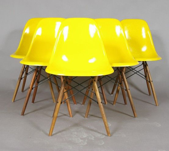 Yellow Eames Chairs!