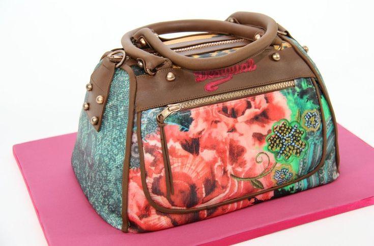 Desigual Bag - by Katerina @ CakesDecor.com - cake decorating website