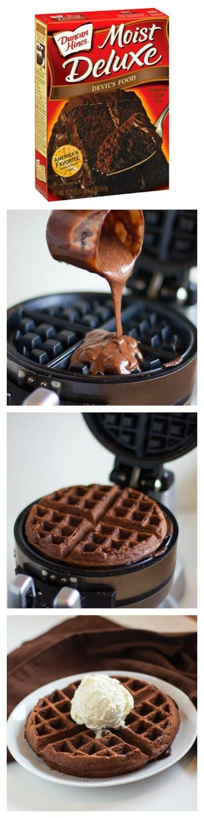 Nummy nummy in my tummy! :) breakfast of champions!! :) cake mix waffles!!