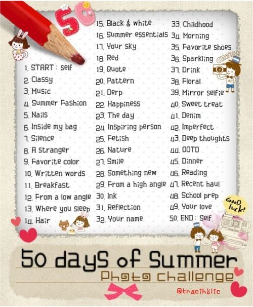 50 Days of Summer Photo Challenge
